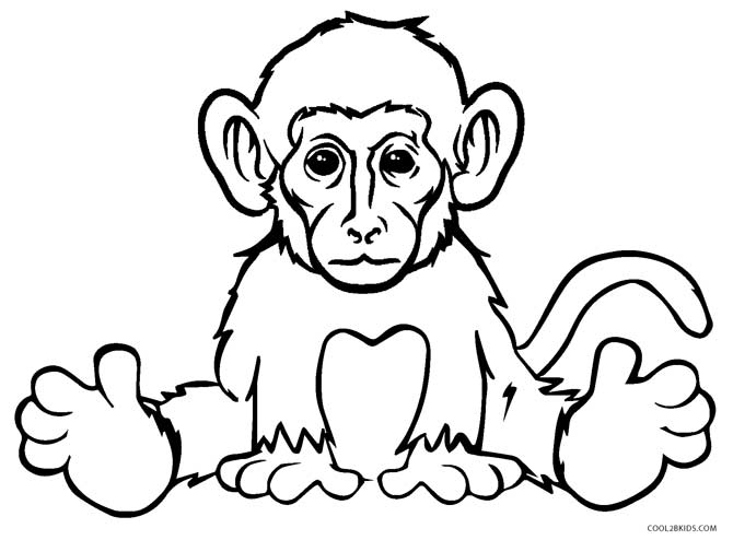 670x494 Free Printable Monkey Coloring Pages For Kids