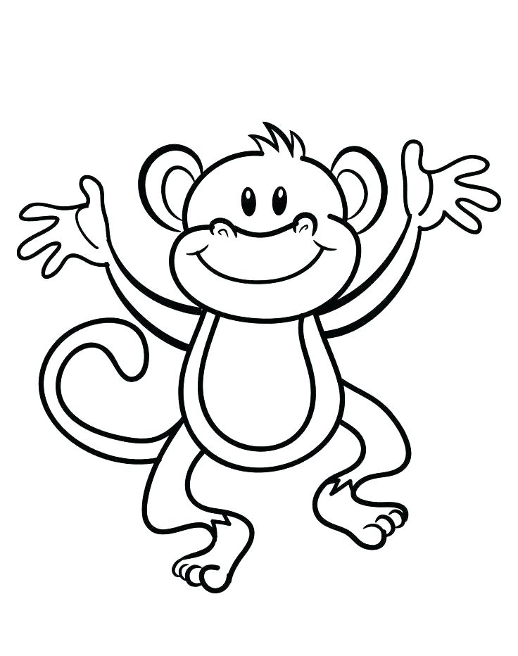 736x932 Monkey Coloring Pages Printable Monkeys Coloring Pages Printable
