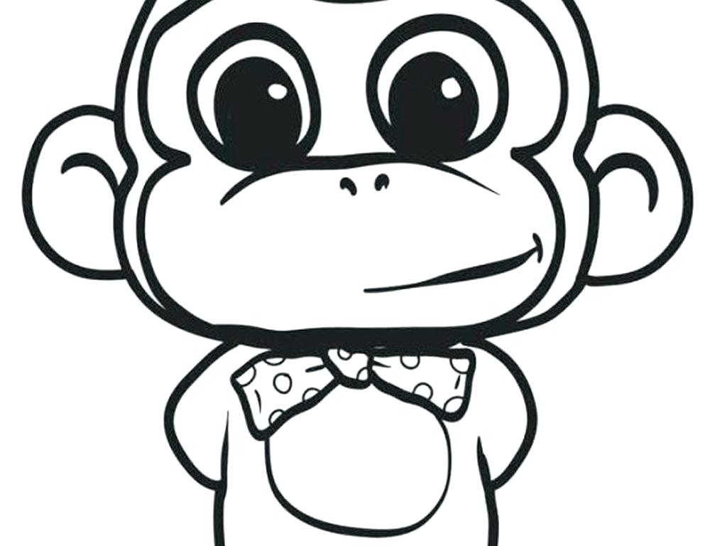 1000x768 Monkey Face Coloring Page Monkey Coloring Sheets Free Printable