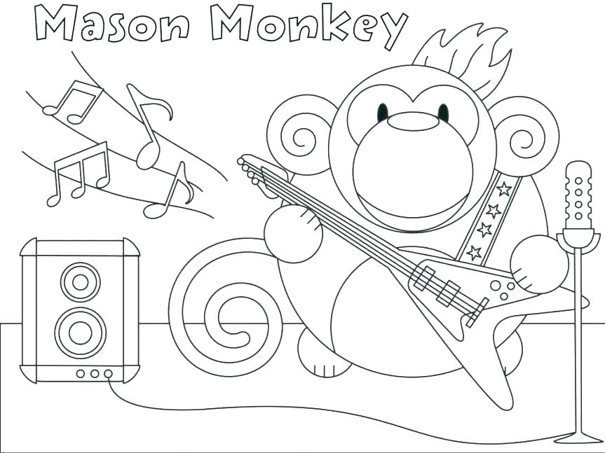 863x647 Printable Monkey Coloring Pages Printable Monkey Coloring Pages