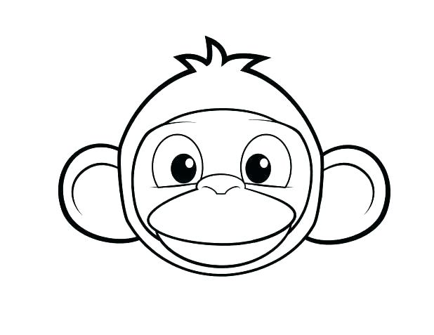 618x477 Spider Monkey Coloring Pages Monkey Color Page Printable Monkey