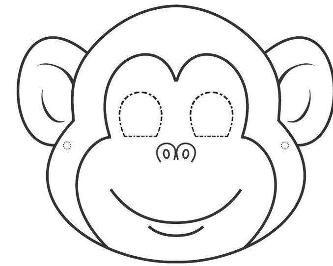 678x543 Monkey Face Coloring Page Best Monkey Mask Ideas