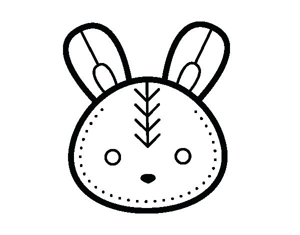 600x470 Bunny Face Coloring Page Bunny Face Coloring Page Monkey Face