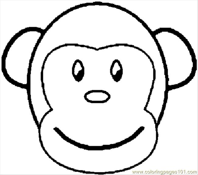 650x573 Coloring Monkey Coloring Page