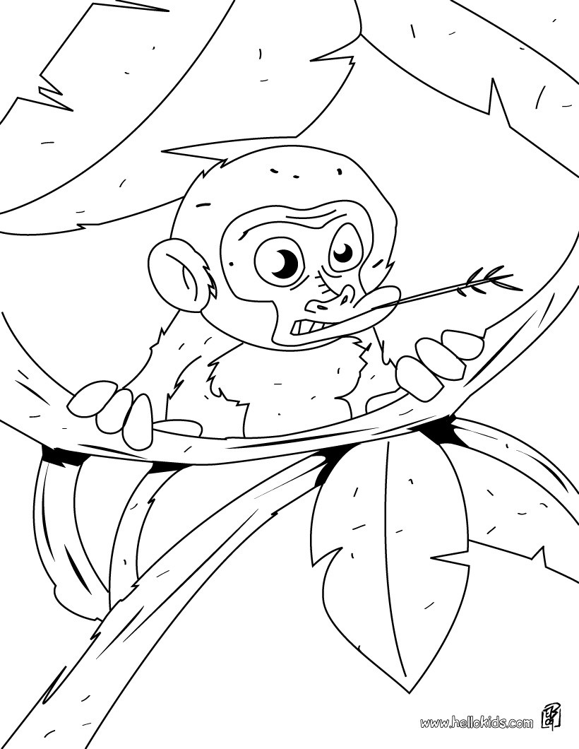 820x1060 Monkey's Head Coloring Pages