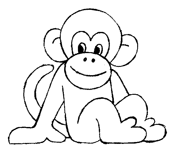 567x502 Monkey Coloring Pages Unique Baby Monkey Head Coloring Page