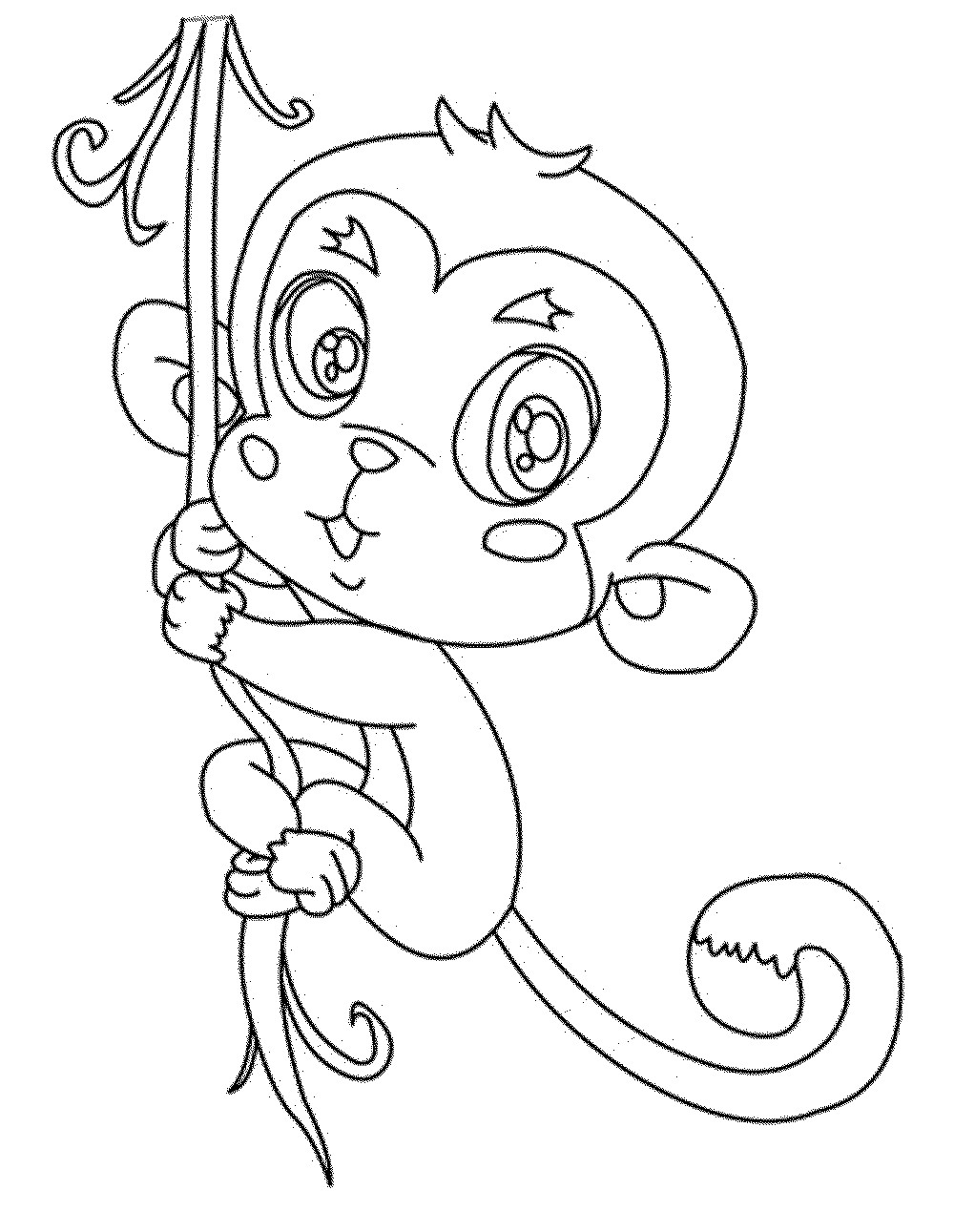 1000x1291 Unlock Coloring Pages Of Cute Baby Monkeys Get This Monkey