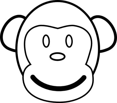 500x439 Coloring Page Monkey Face Ms S M I T H