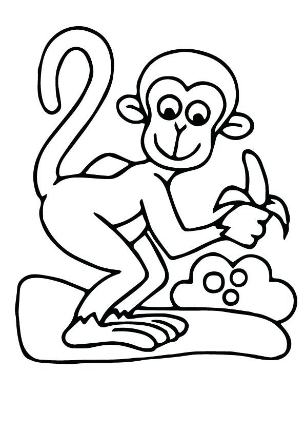 595x842 Wonderful Monkey Coloring Pages
