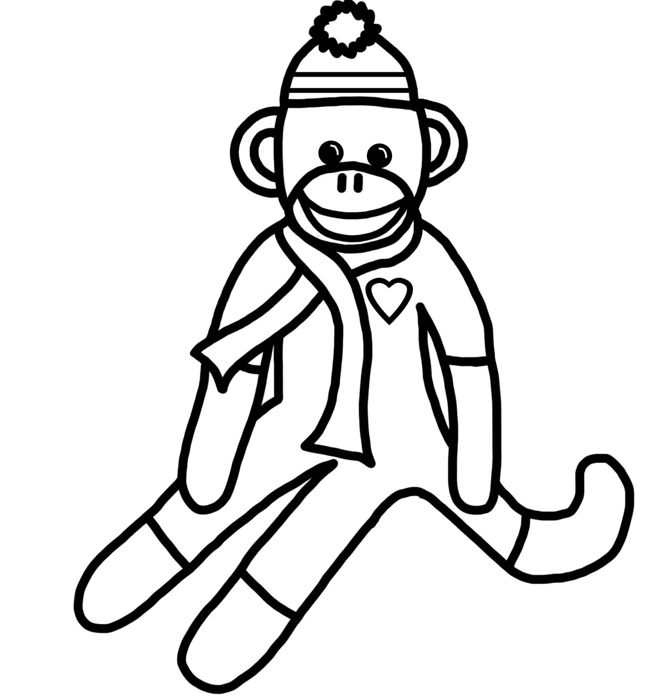 1368x1440 Coloring Pages For Monkey New Baby Monkey Coloring Page Monkey
