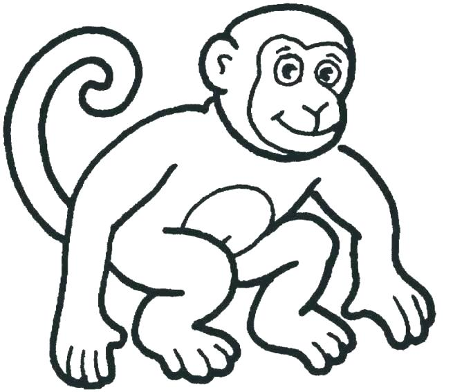 655x567 Monkey Coloring Pages Little Monkeys Coloring Page Free Online