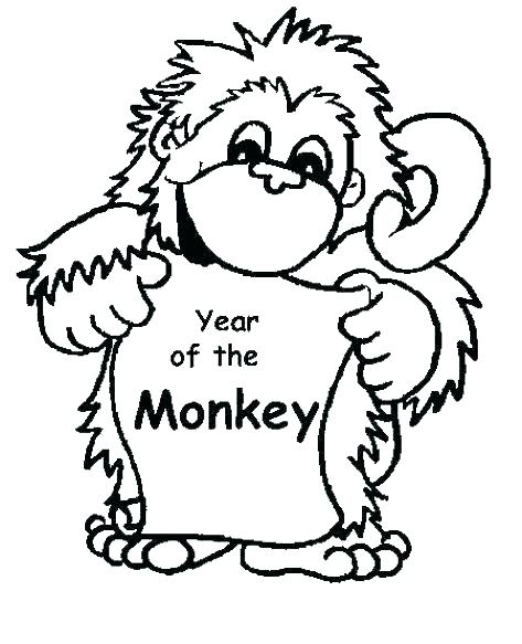 473x583 Monkey Coloring Pages For Preschoolers Monkey Coloring Pages