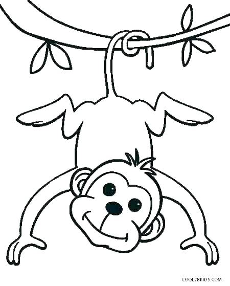 450x559 Coloring Pages Of A Monkey