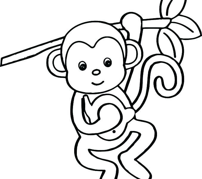 678x600 Monkey Color Page