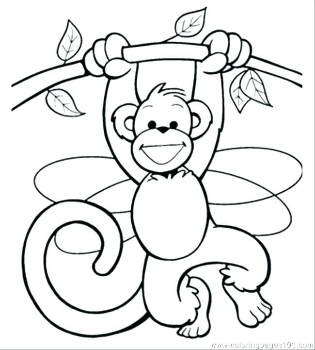650x721 Monkey Printable Coloring Pages
