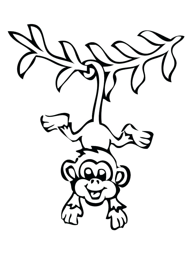 750x1000 Coloring Pages Monkey Monkey Printable Coloring Book For Kids