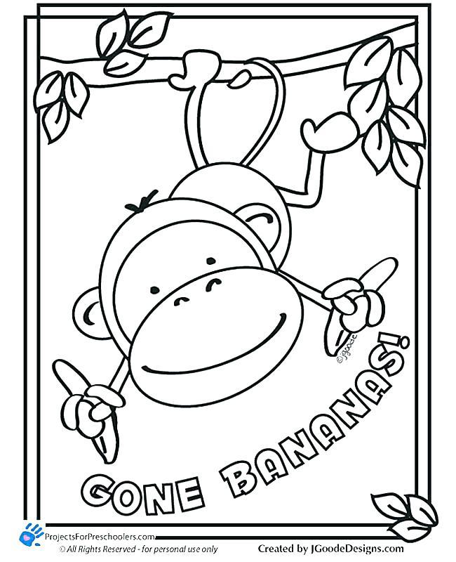 650x800 Five Little Monkeys Coloring Page Little Monkeys Colouring Sheet