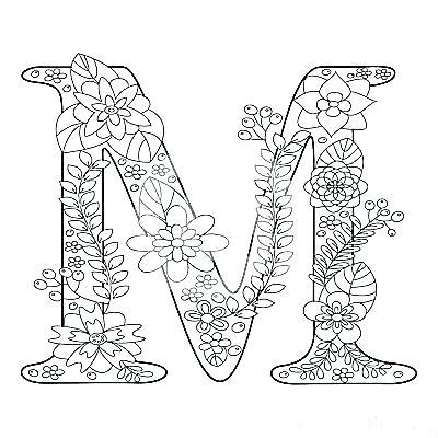 400x400 Letter M Coloring Pages M Coloring Pages Letter People Coloring