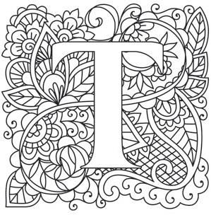 299x304 Mendhika Letter T Image Alphabets Embroidery