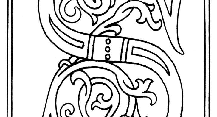 728x393 Ornamental Alphabet Coloring Pages Images About Letter