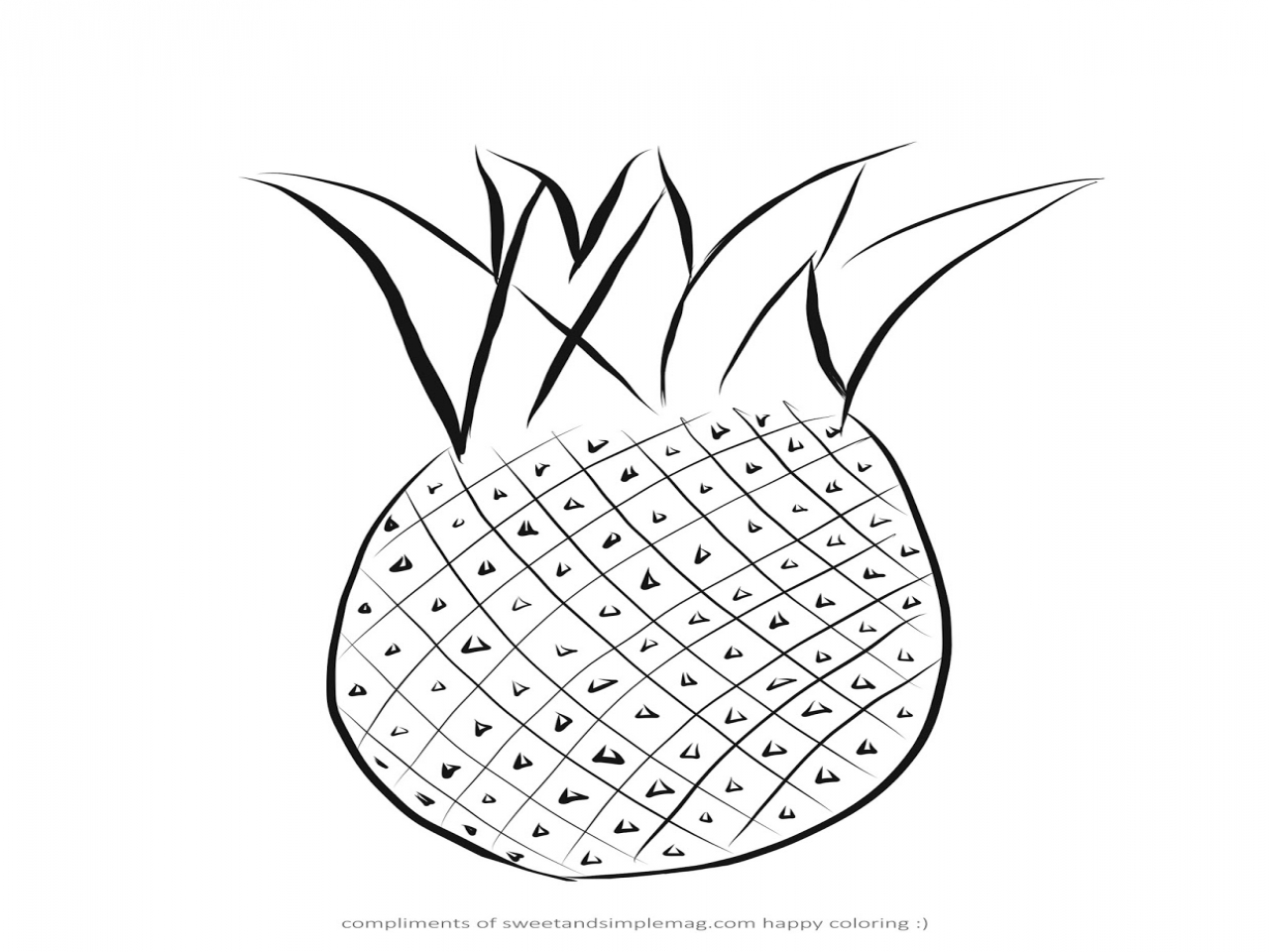 1280x960 Pineapple Coloring Page Sweet And Simple Magazine Pages