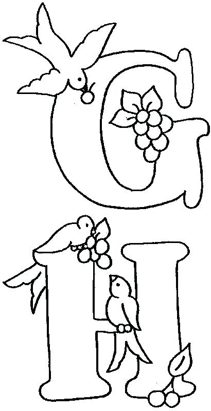410x800 Alphabet Blocks Coloring Pages Bird Embroidery Embroidery Alphabet