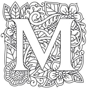 300x305 Craft Delicate Charm With This Mehndi Style Letter! Downloadss