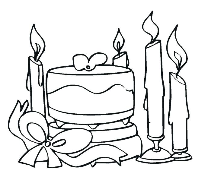 689x587 I Love You Coloring Pages Part Cake And Candles Coloring Pages
