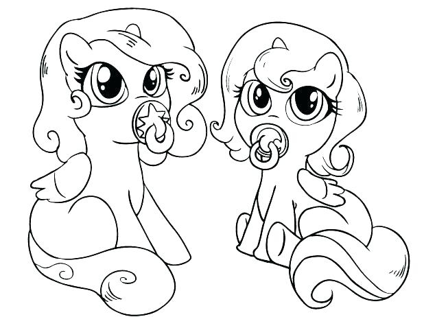 618x462 Coloring Pages My Little Pony Babies