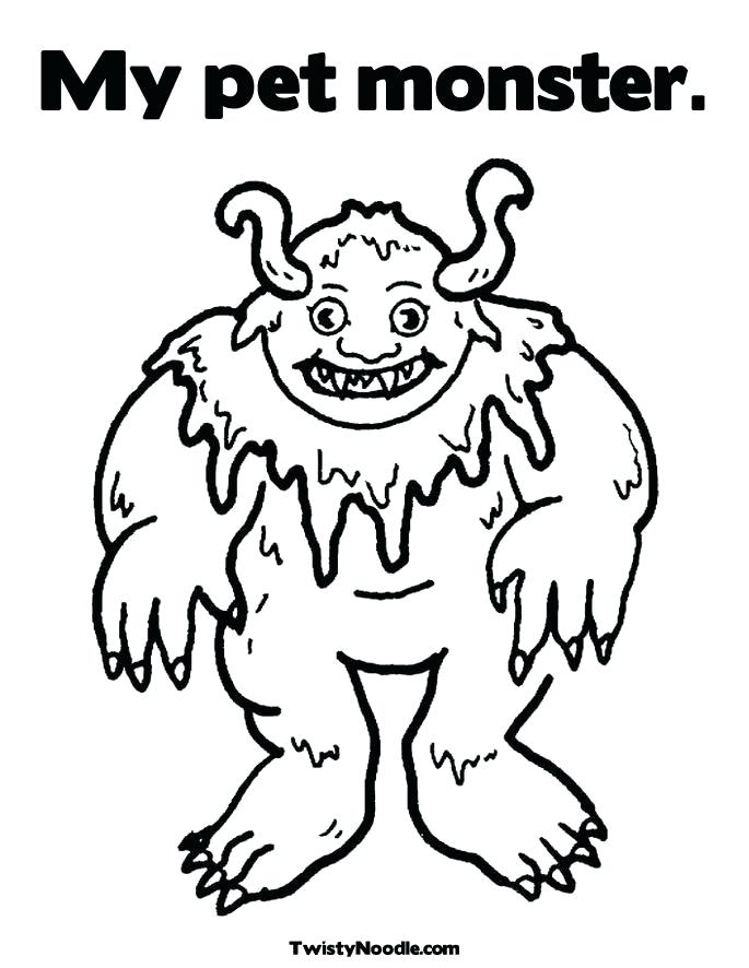685x886 Scary Monster Coloring Pages Monster Color Page Sea Monster Scary