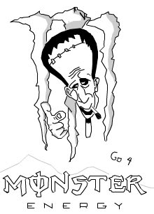 220x307 Monster Energy Coloring Pages Free