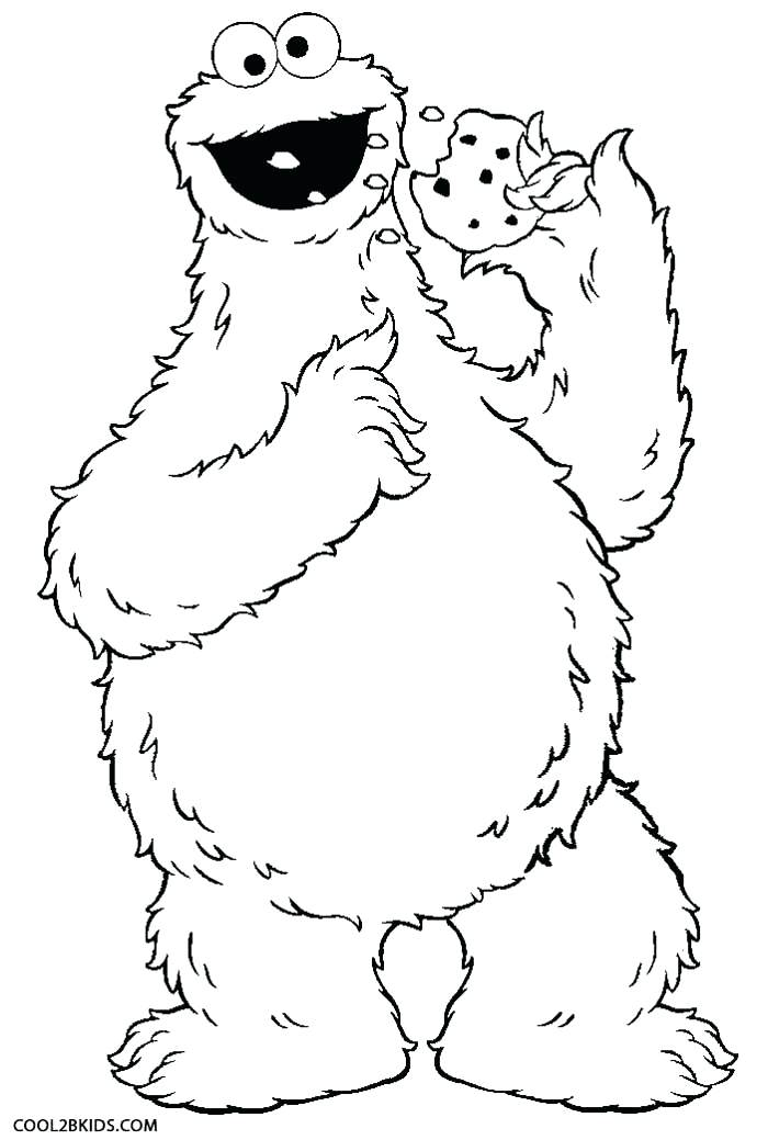 700x1039 Cookie Monster Coloring Pages Cookie Monster Eating Cookies