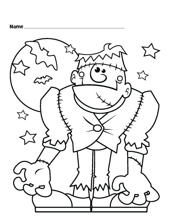 600x777 Frankenstein Coloring Pages Coloring Sheets Monster And Bats