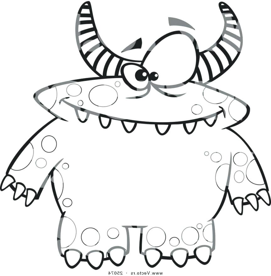 863x879 Halloween Monster Coloring Pages Monsters Have A Scary Face Faces