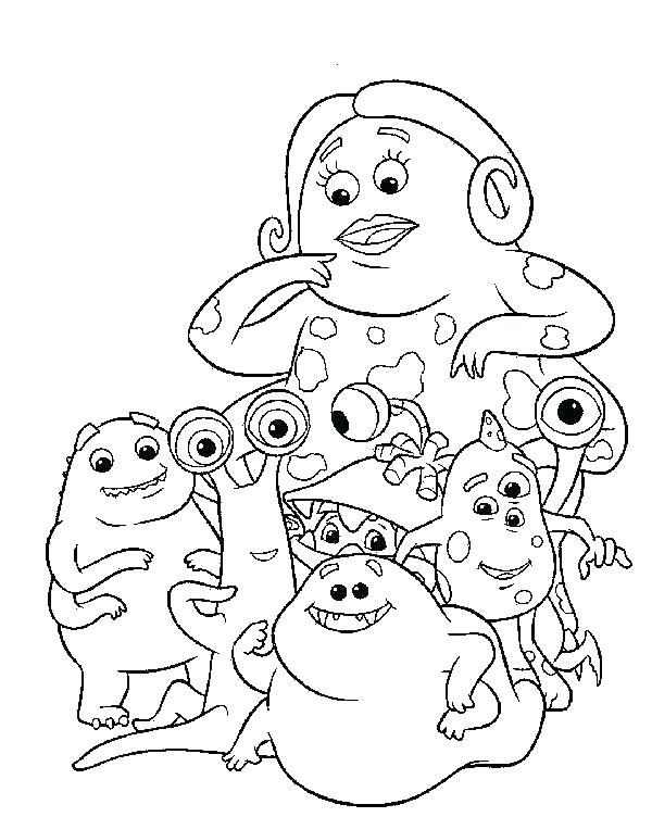 600x752 Monster Coloring Pages Free Printable Monsters Inc Coloring Page