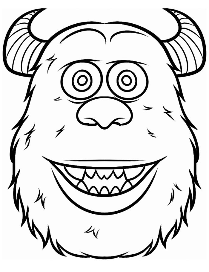 700x909 Monster Face Coloring Pages
