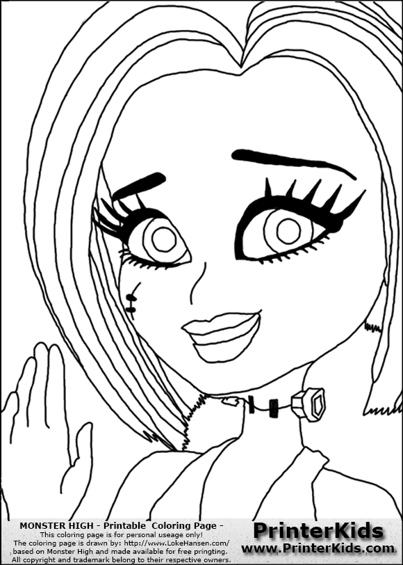 580x812 Skull Coloring Pages Monster High Skull Coloring Pages Kids