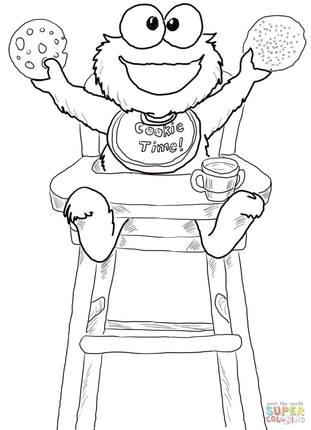 1024x1416 Coloring Page Cookie Monster Coloring Pages Click The Time