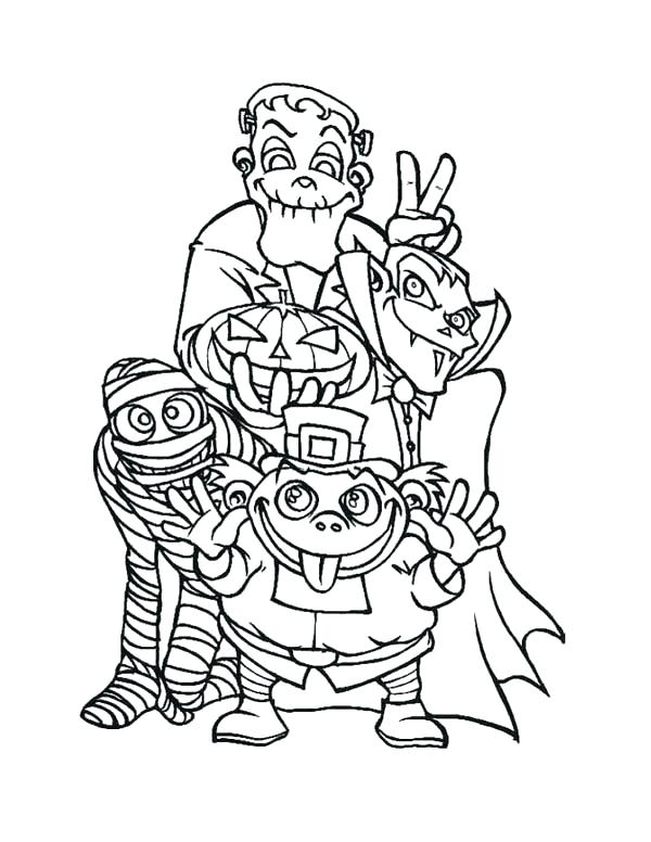 600x776 Halloween Monsters Coloring Pages