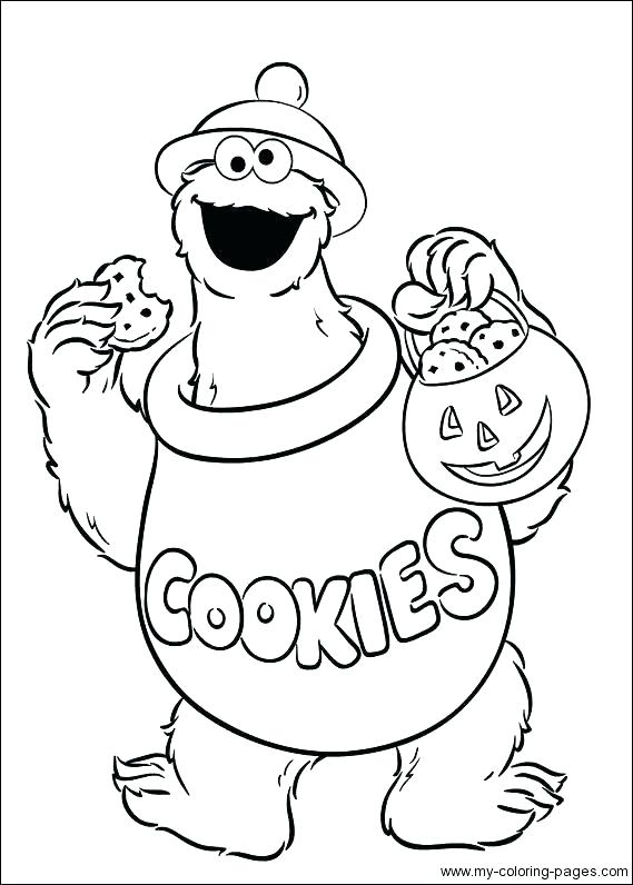 569x796 Cookie Coloring Page Best Of Cookie Monster Coloring Page