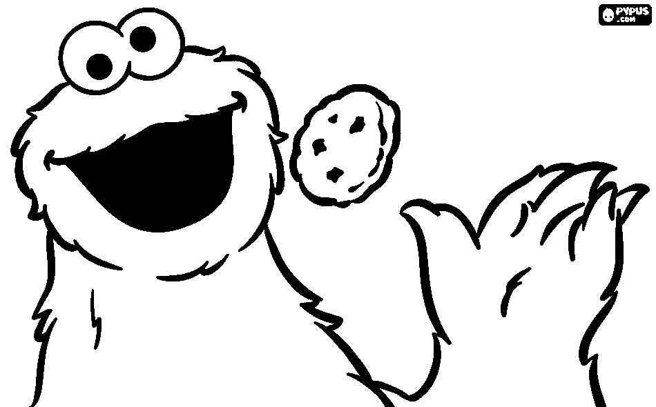 950x590 Cookie Monster Coloring Page