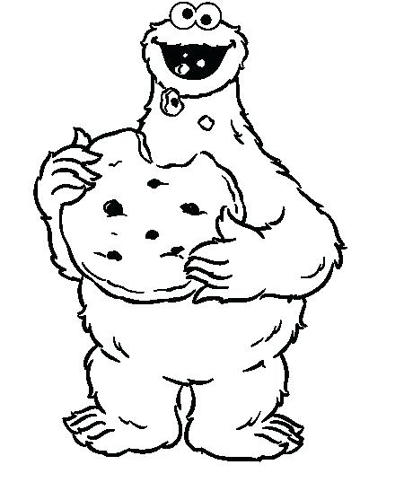 450x547 Cookie Monster Coloring Page Cookie Monster Holding A Lot Of Cake