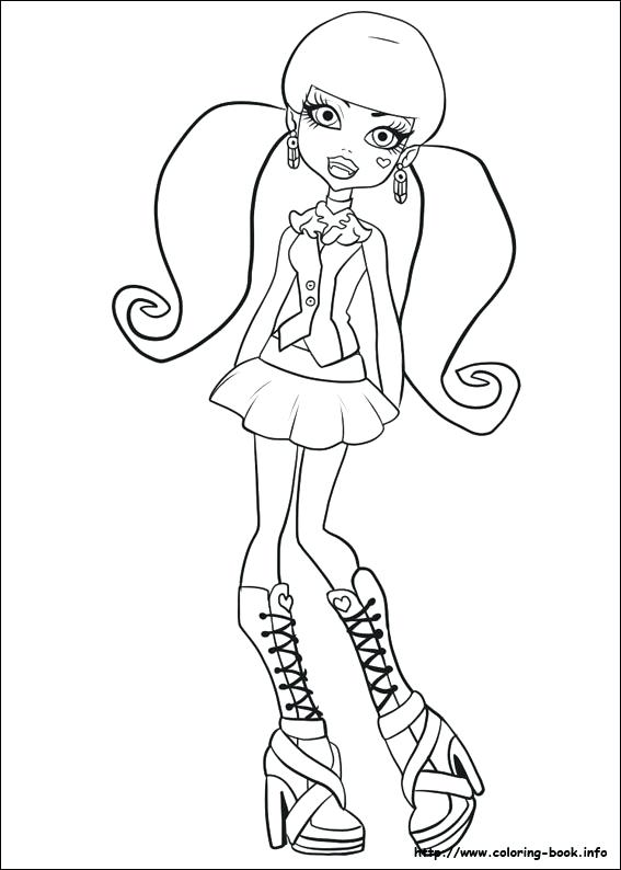 567x794 Monster High Color Pages And Index Coloring Pages Monster High