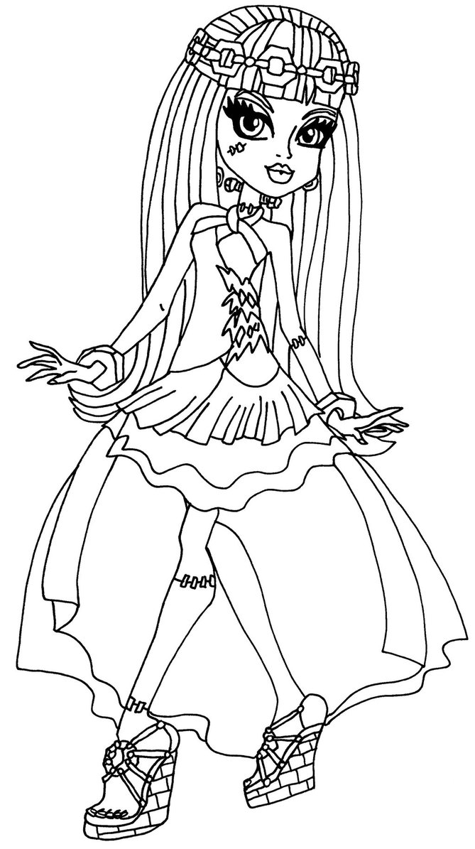669x1195 Monster High Coloring Pages Wishes Download Free Coloring Sheets