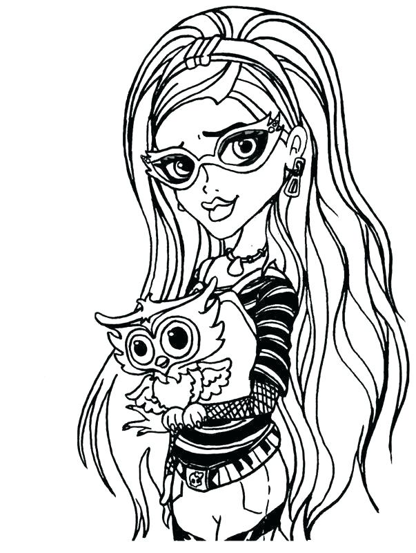603x800 Monster High Coloring Pages Wishes Free Printable For To Color