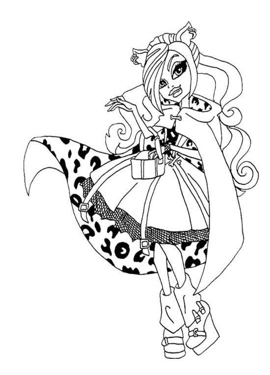 550x765 Monster High Coloring Pages Wishes Wisp