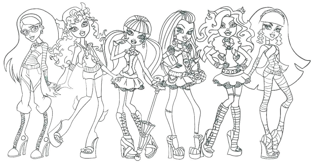 1188x622 Monster High Coloring Pages Baby Abbey Bominable Long Monster High