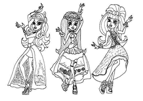 600x425 Monster High Coloring Pages Frankie Stein Wishes