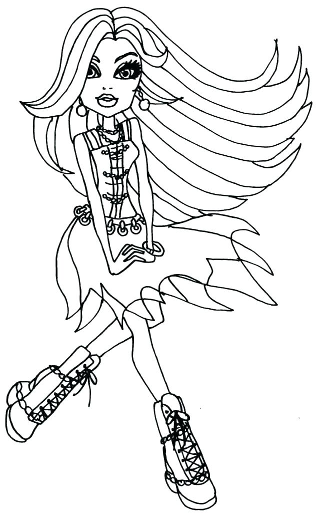 640x1024 Monster High Coloring Pages To Print For Free Baby Monster High