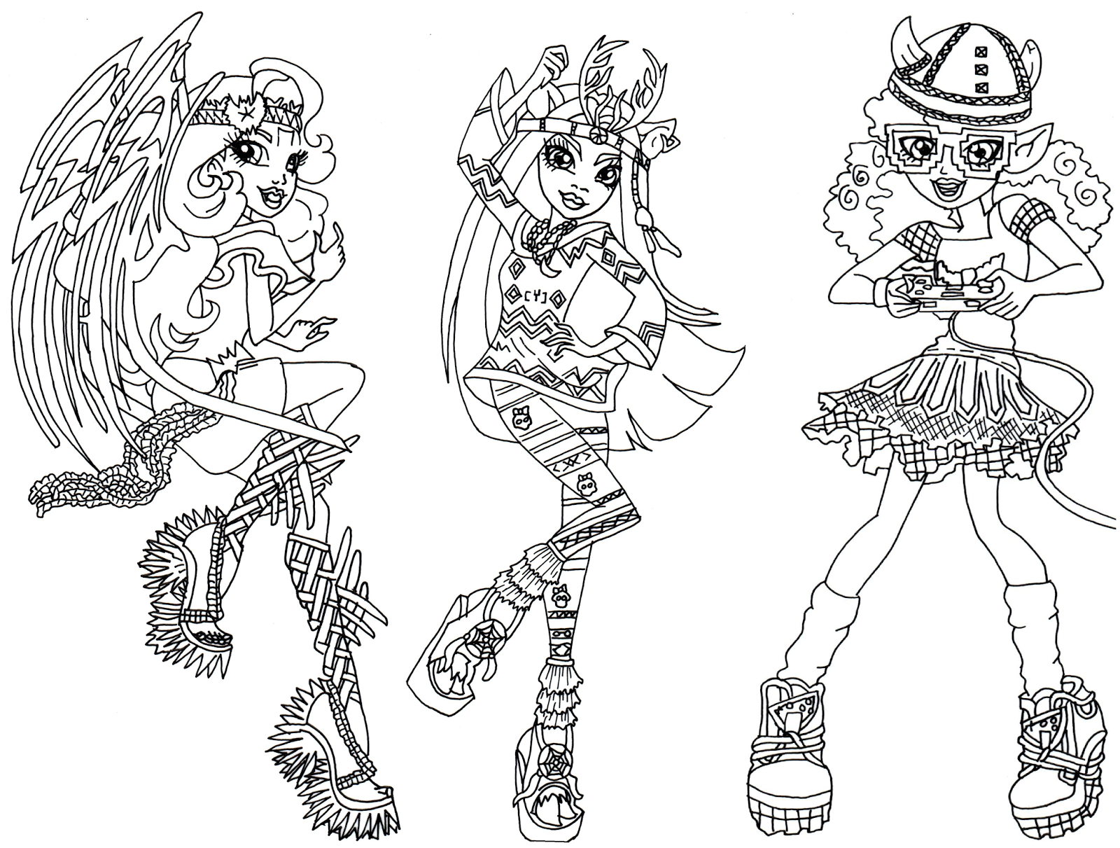 1600x1211 Monster High Coloring Pages Clawdeen Wolf Wishes
